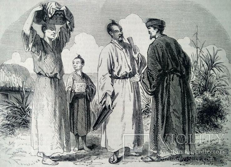 Жители Лутчоу. Гравюра (17х13)