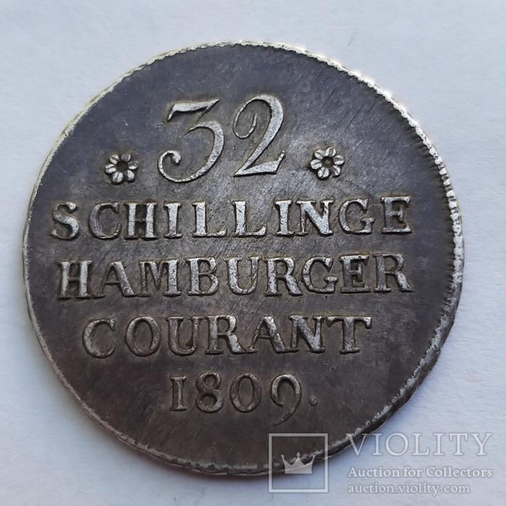 32 шиллинга 1809 год Гамбург, фото №2