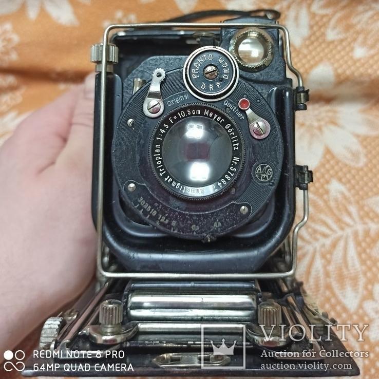 Немецкая камера Объектив Meyer-Görlitz Trioplan 1:4.5 F=10cm, фото №11