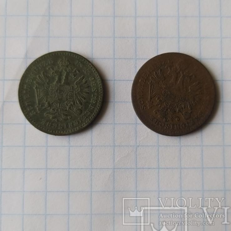 Крейцери 1858  мон. двори А, В, фото №3