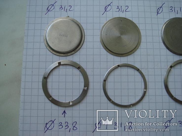 Крышка к часам 4 шт, с кольцом, фото №3
