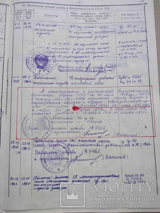 Личное дело Подполковник Югославия Сербия Гражданство СССР, фото №12