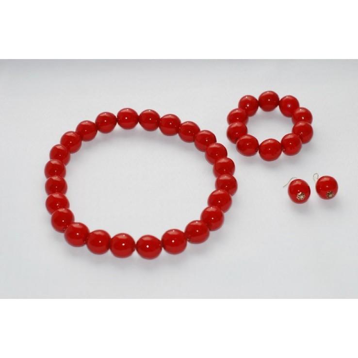 Комплект прикрас - намисто, браслет та сережки з дерев'яних намистин., фото №3