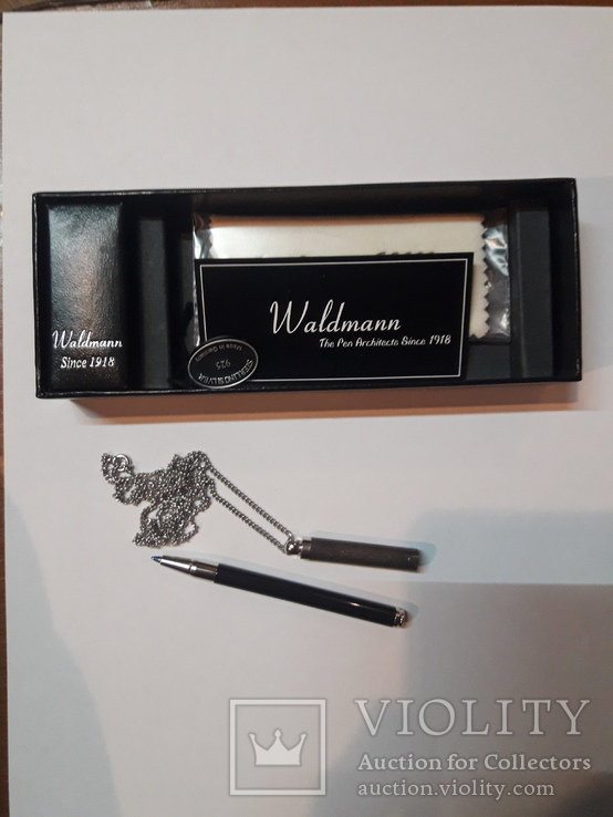 Ручка шариковая Waldmann с цепочкой, фото №3