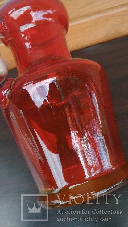 Большой кувшин, уранове стекло., фото №4