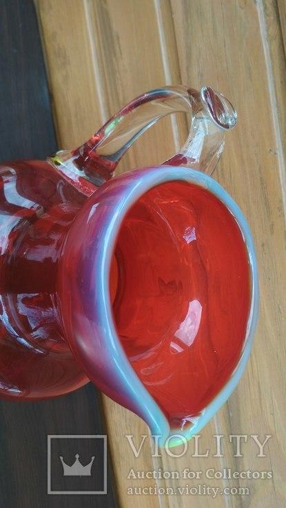 Большой кувшин, уранове стекло., фото №8