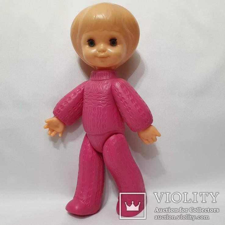 Кукла Ссср на резинках девочка в костюме Виктория фабрика Победа Киев 30 см цена клеймо, фото №2