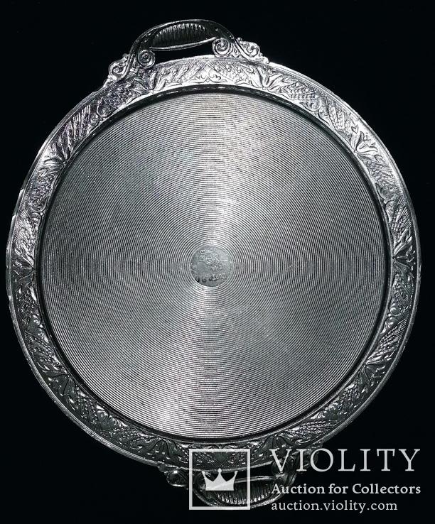 Таця (піднос) кругла, алюмінієва з часів СРСР, фото №2