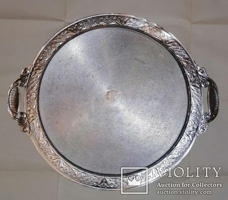 Таця (піднос) кругла, алюмінієва з часів СРСР, фото №4
