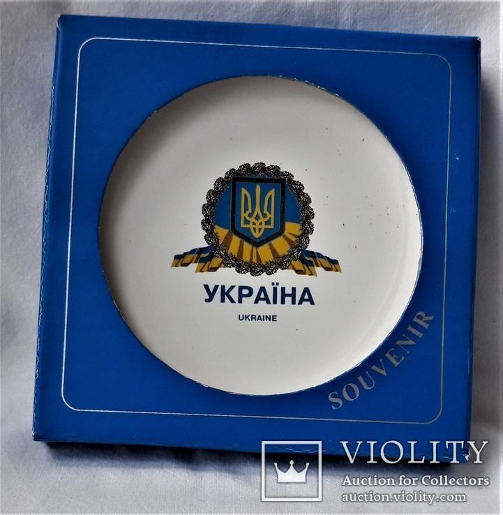 Тарелочка в упаковке, Украина, клеймо, предмет протокольных встреч, фото №3