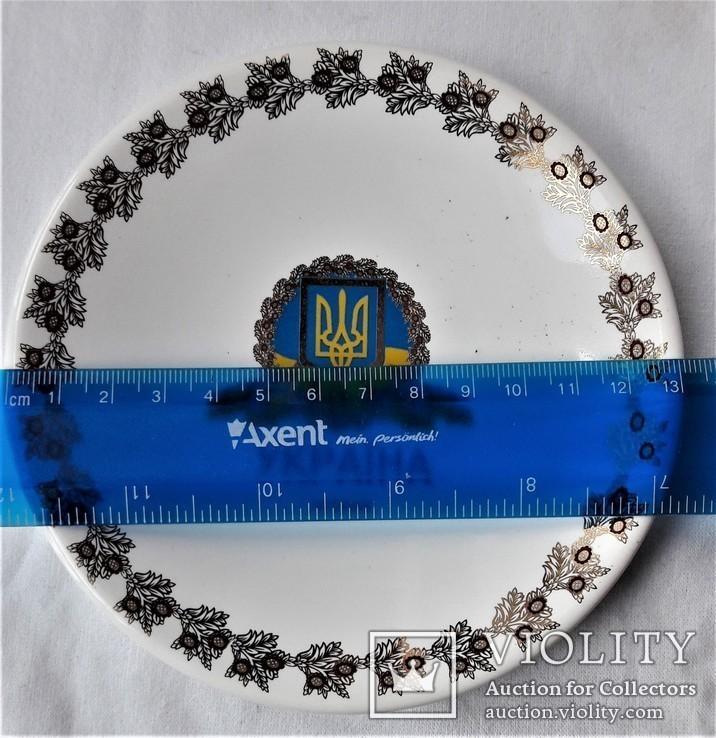 Тарелочка в упаковке, Украина, клеймо, предмет протокольных встреч, фото №11