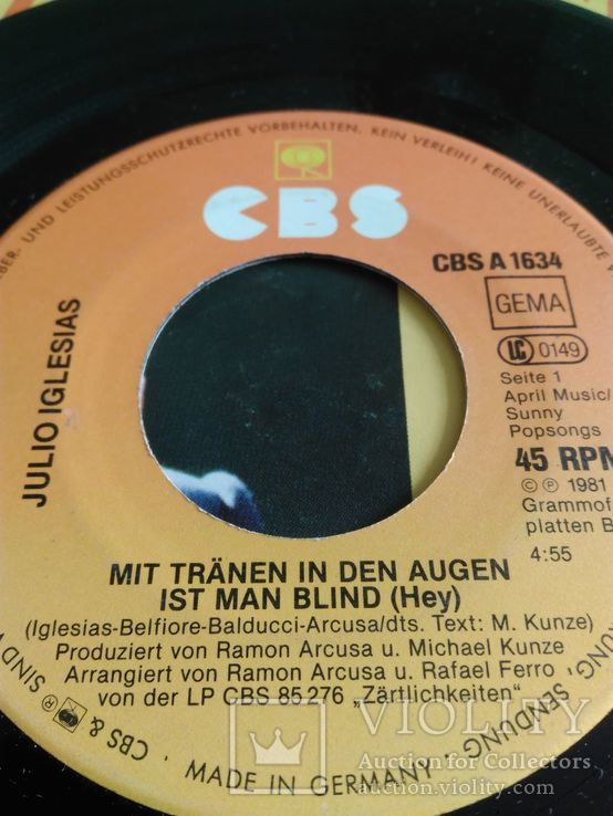 Пластинка виниловая Julio Iglesias, фото №5