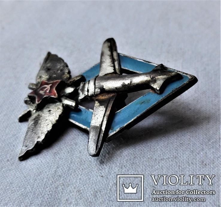 Знак Школа пилотов 9 ВВС РККА, СССР, копия, №447, фото №13