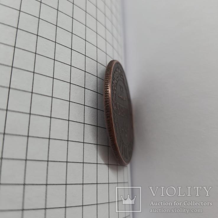 Монета 5 копеек Е М, 1872г копия, фото №4