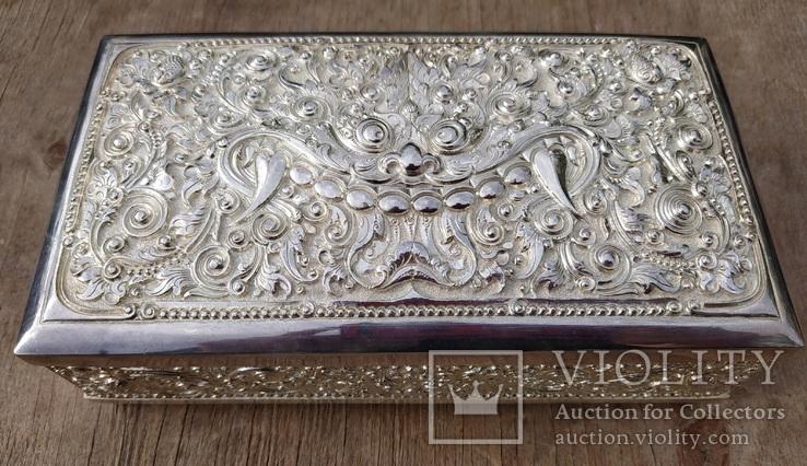 Серебряная колониальная шкатулка., фото №3