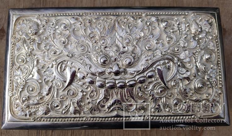 Серебряная колониальная шкатулка., фото №4