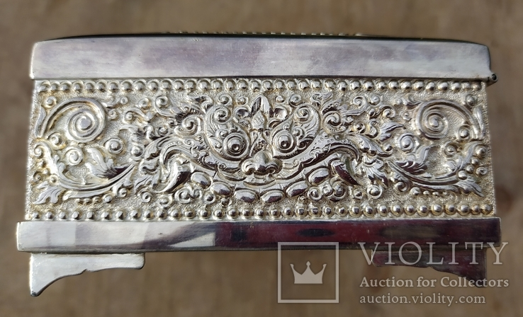 Серебряная колониальная шкатулка., фото №6
