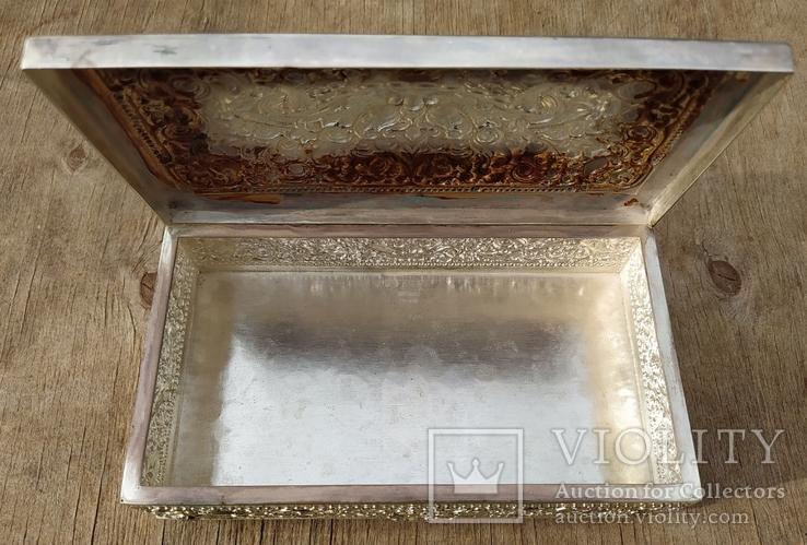 Серебряная колониальная шкатулка., фото №7