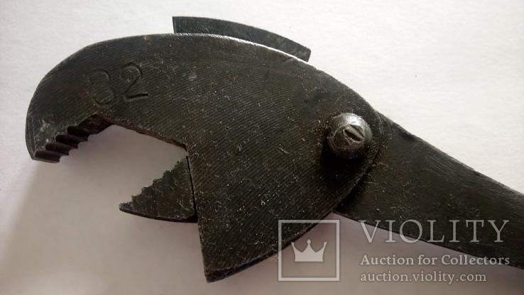 СССР Ключ универсальный гаечный разводной самозатягивающийся КС-01 32 мм 12 мм, фото №4