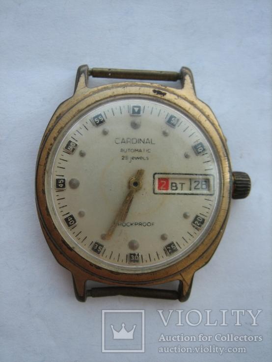 Часы CARDINAL позолота AU5 календарь