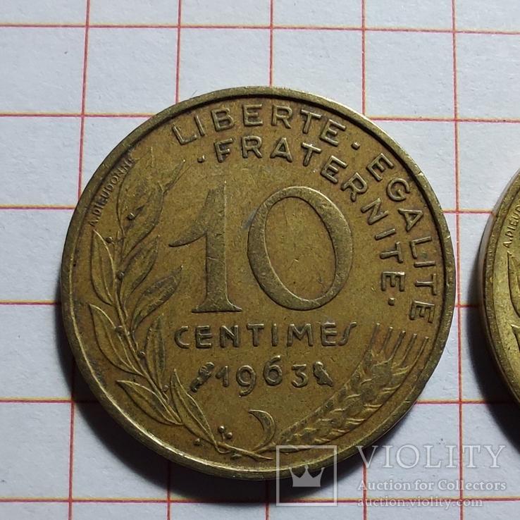 Франция. 10 сантимов. 1963, 1983, 1997, фото №3