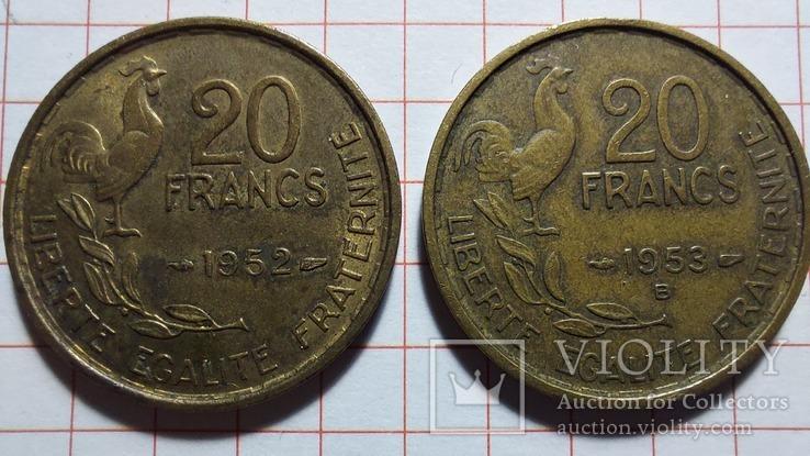 Франция. 20 франков 1952, 1953, фото №2