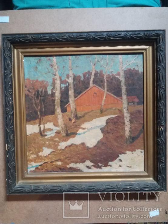 Весенний пейзаж. Ольшанецкий Яков Иосифович (1898-1982),ученик Тита Яковлевича Дворникова