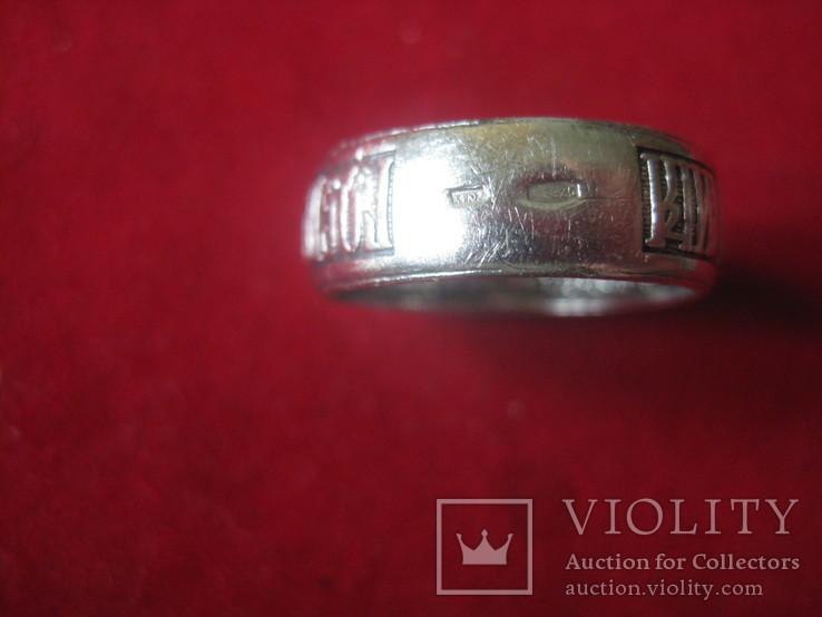 Кольцо Спаси и сохрани, серебро, 925, 3.6 грамм, фото №6