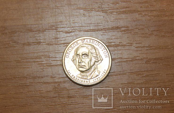 1 доллар президент Вашингтон, фото №2