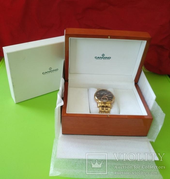 Швейцарський годинник Candino в позолоті