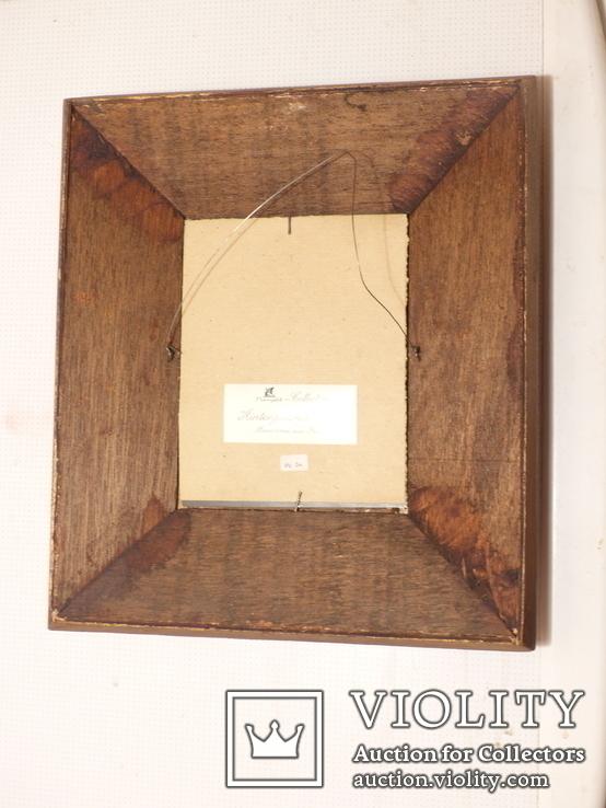 Зеркало - Перу - рамка дерево   роспись по стеклу . золочение- ручная работа - 32 х 28 см, фото №10