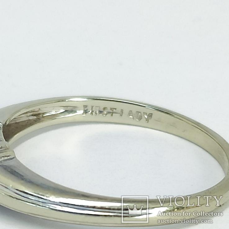 Золотое помолвочное кольцо с бриллиантом, фото №8