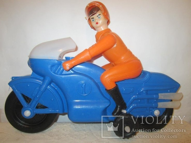 Мотоциклист игрушка новая 40см СССР, фото №2