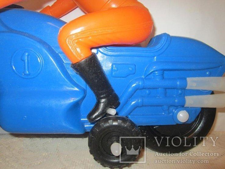 Мотоциклист игрушка новая 40см СССР, фото №5