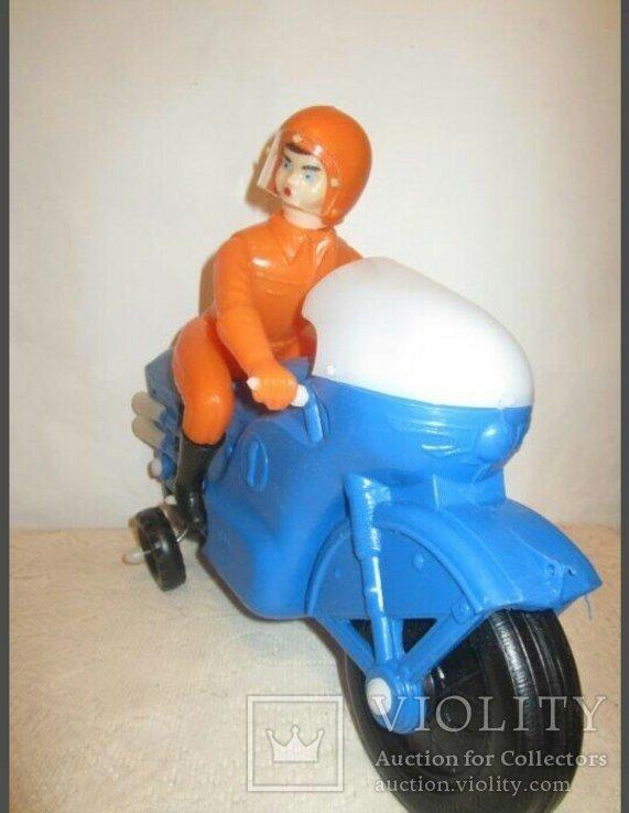 Мотоциклист игрушка новая 40см СССР, фото №9