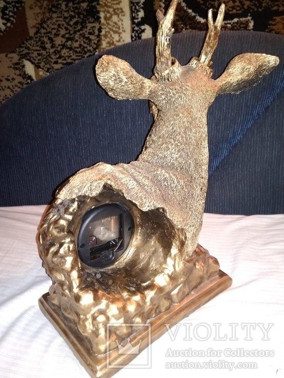 Часы каминные олень кварц, фото №5
