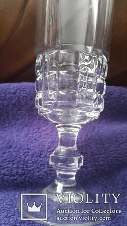 Старинный бокал стекло,хрусталь ?, фото №4