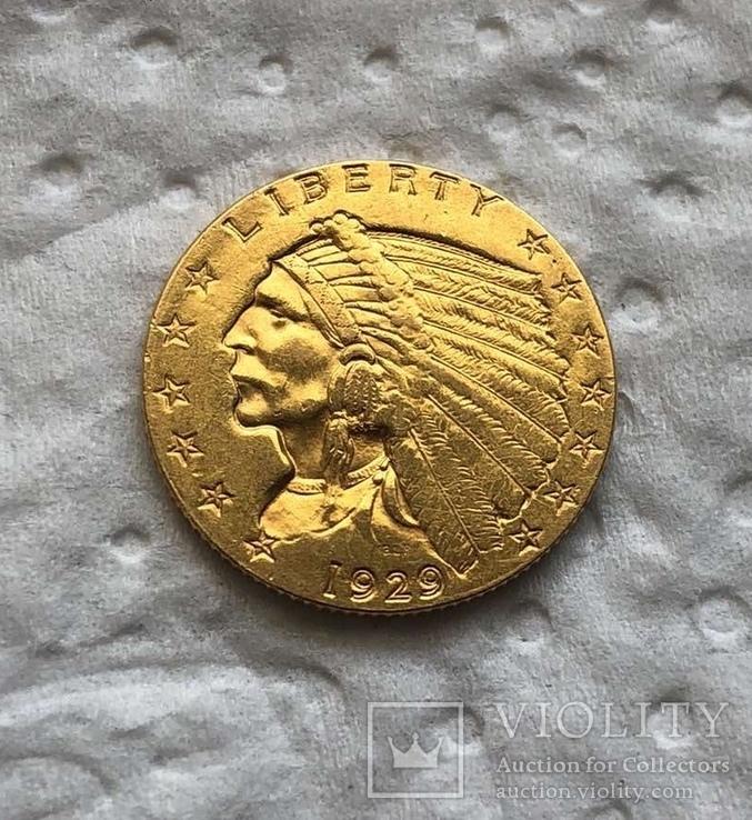 США 2,5 $ 1829 год 4,17 грамм золота 900'