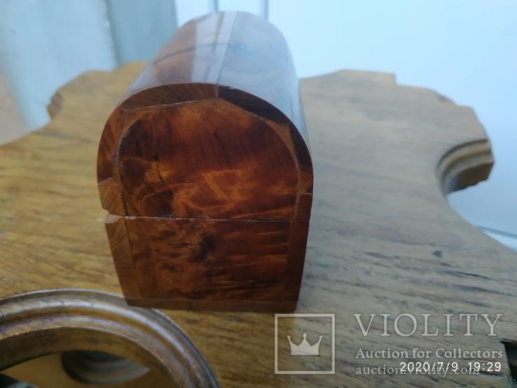 Сундучок шкатулка из дерева, фото №3