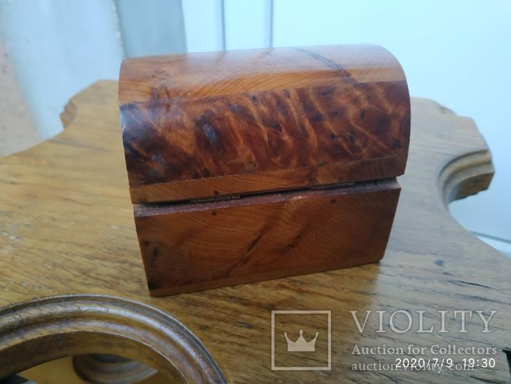 Сундучок шкатулка из дерева, фото №4