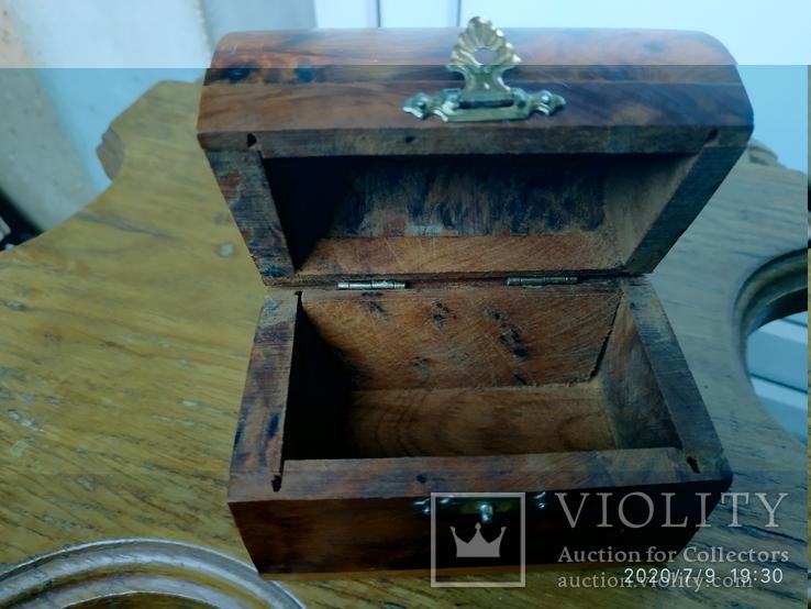 Сундучок шкатулка из дерева, фото №6