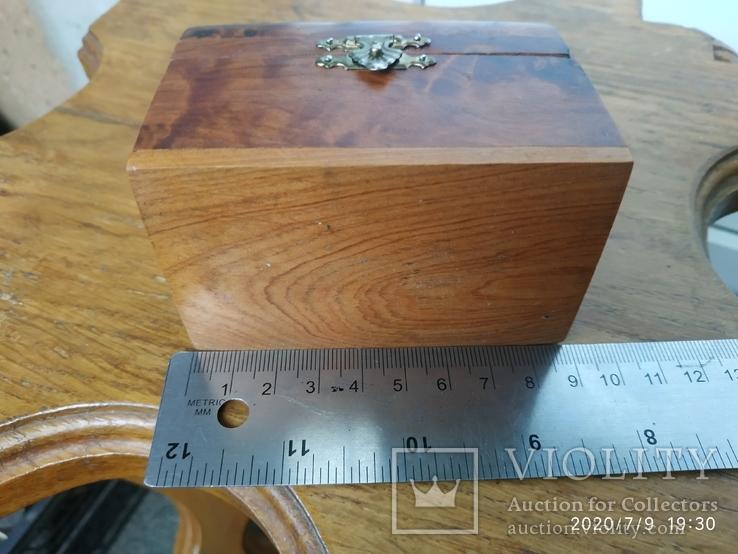 Сундучок шкатулка из дерева, фото №7