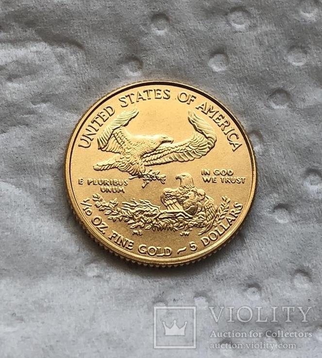 США 5 $ 2019 год 3,39 грамм 917', фото №3
