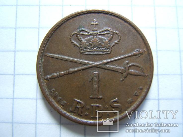 Дания 1 ригсбанкскиллинг 1842 г. VS KM#726, фото №4