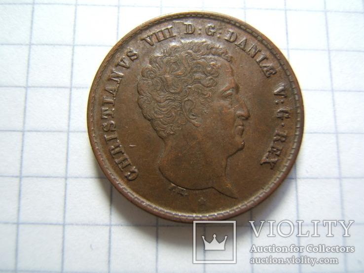 Дания 1 ригсбанкскиллинг 1842 г. VS KM#726, фото №6