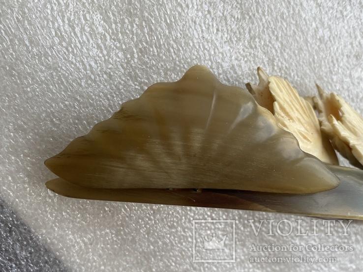 Статуэтка из рога и кости Лебеди, фото №8