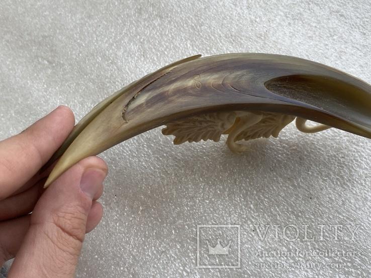 Статуэтка из рога и кости Лебеди, фото №11