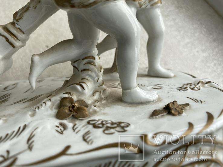 Статуэтка Карета Германия довоенная старая статуэтка номерная, фото №5