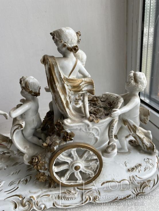Статуэтка Карета Германия довоенная старая статуэтка номерная, фото №10
