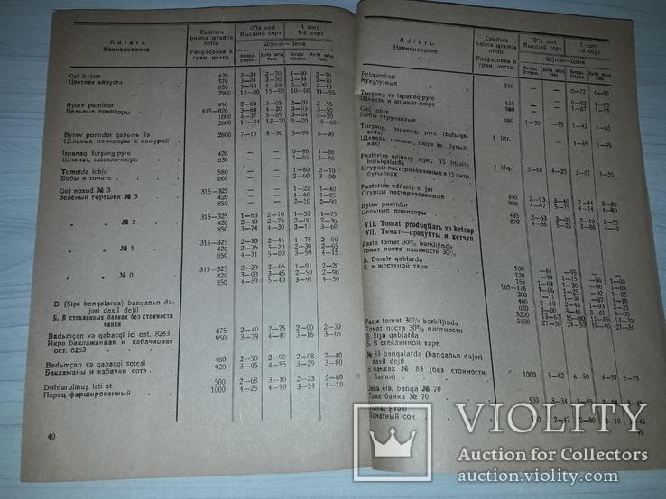 Прейскурант цен на консервы и правила торговли 1937, фото №6